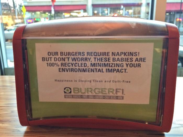 """BurgerFi como um espaço """"verde""""."""